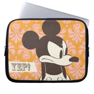 Vintage clásico de Mickey el | enojado Funda Portátil