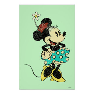 Vintage clásico de Minnie el | Póster