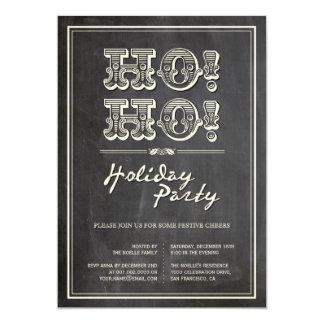 """¡Vintage clásico HO! ¡HO! La celebración de días Invitación 5"""" X 7"""""""