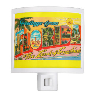 Vintage clásico la Florida Lámpara De Noche