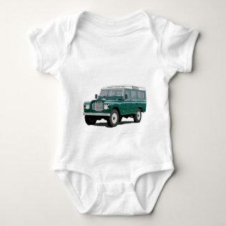 Vintage clásico verde de Landy Land Rover que Body Para Bebé