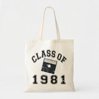 Vintage Class Of 1981 Computer Science Canvas Bag