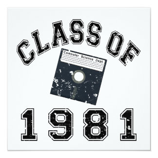 Vintage Class Of 1981 Computer Science Invitation