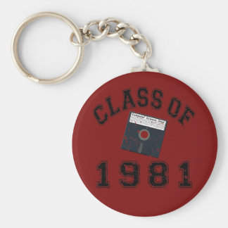 Vintage Class Of 1981 Computer Science Keychain