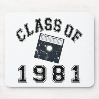 Vintage Class Of 1981 Computer Science Mouse Pad