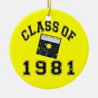 Vintage Class Of 1981 Computer Science Christmas Tree Ornament