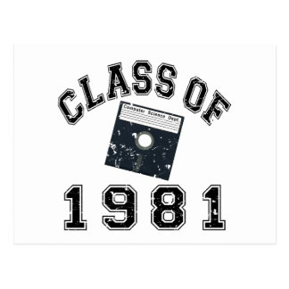 Vintage Class Of 1981 Computer Science Postcard