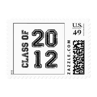 Vintage Class of 2012 Graduation Postage Stamp