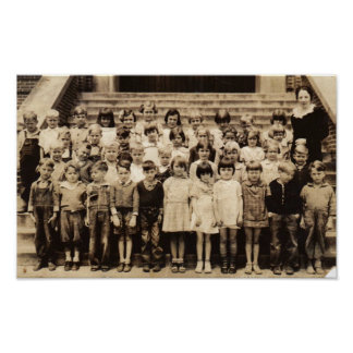 Vintage Class Photo Poster