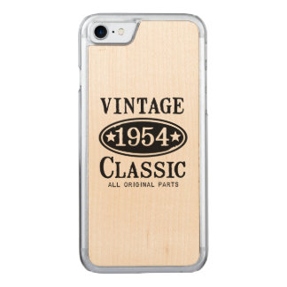 Vintage Classic 1954 iPhone 6 - Pick Color Carved iPhone 8/7 Case