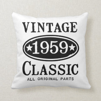 Vintage Classic 1959 Gifts Throw Pillow