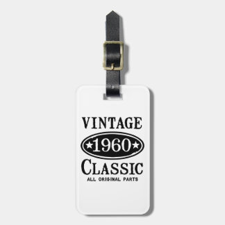 Vintage Classic 1960 Gift Tag For Bags
