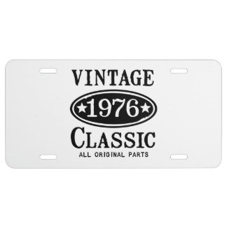 Vintage Classic 1976 License Plate