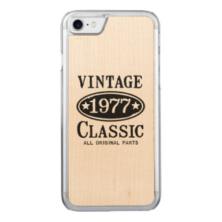 Vintage Classic 1977 Carved iPhone 8/7 Case