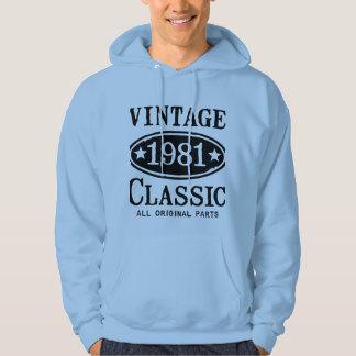 Vintage Classic 1981 Hooded Sweatshirt