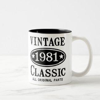 Vintage Classic 1981 Two-Tone Coffee Mug
