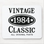 Vintage Classic 1984 gifts Mousepads