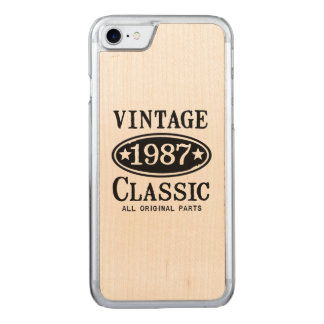 Vintage Classic 1987 Carved iPhone 7 Case