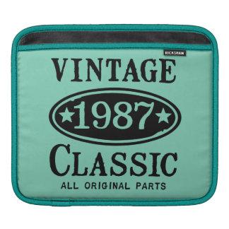 Vintage Classic 1987 iPad Sleeve