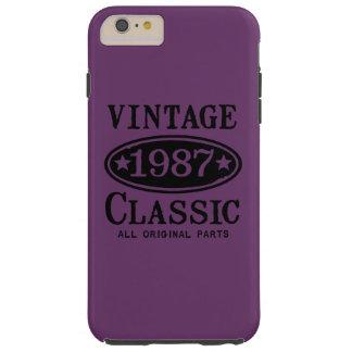 Vintage Classic 1987 Tough iPhone 6 Plus Case