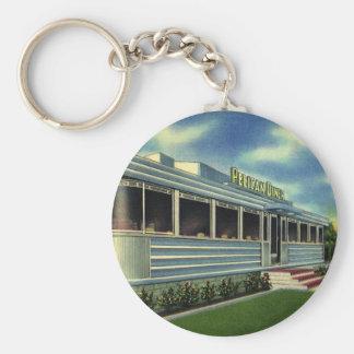 Vintage Classic 50s Retro Restaurant Pelican Diner Key Chain