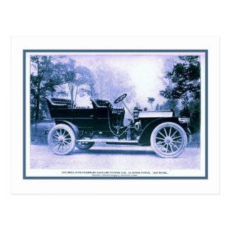Vintage Classic American car Columbia 1909 Postcard