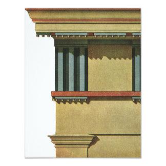 Vintage Classic Architecture, Temple Entablature 4.25x5.5 Paper Invitation Card