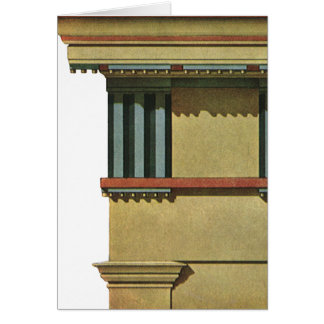 Vintage Classic Architecture, Temple Entablature Greeting Card
