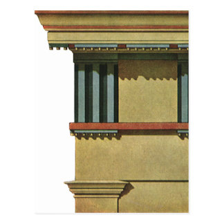 Vintage Classic Architecture, Temple Entablature Postcard