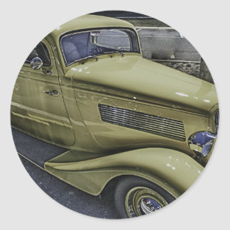 Vintage Classic Car HDR Photo Picture Tshirt Mug + Sticker