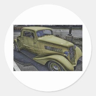 Vintage Classic Car HDR Photo Picture Tshirt Mug + Stickers
