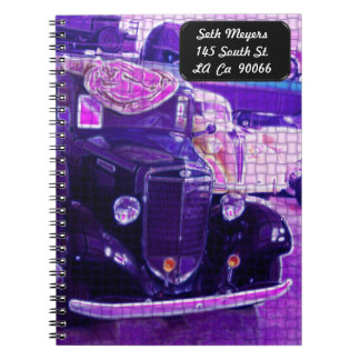 Vintage Classic Car Weave Spiral Notebook