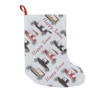 VINTAGE / CLASSIC CARS Happy Xmas Small Christmas Stocking