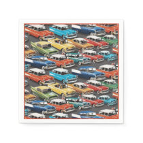 Vintage Classic Cars Pattern Napkins