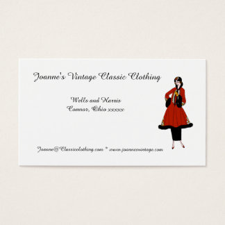 Vintage Classic Clothing Business Card