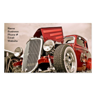 Vintage Classic Collector s Red Car Business Business Card Template