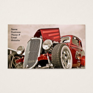 Vintage Classic Collector's Red Car Business Business Card