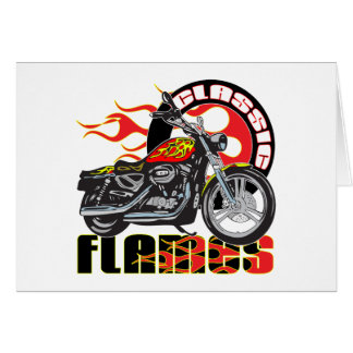 Vintage Classic Flame Paint Job Motorcycle Card