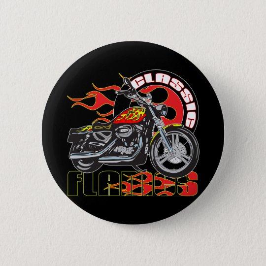 Vintage Classic Flame Paint Job Motorcycle Pinback Button
