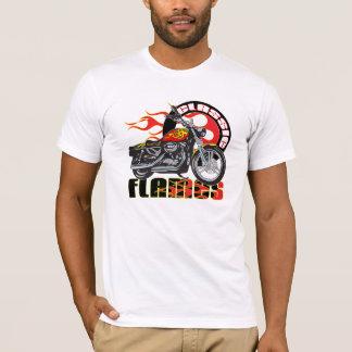 Vintage Classic Flame Paint Job Motorcycle T-Shirt
