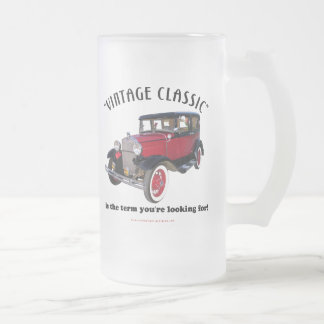 Vintage Classic Frosted Glass Beer Mug