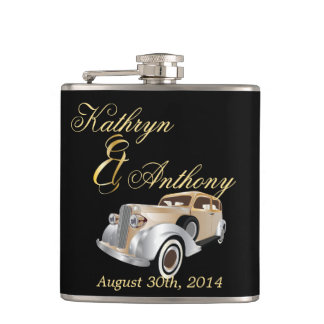 Vintage Classic Gatsby Style Groom's Gift Hip Flask