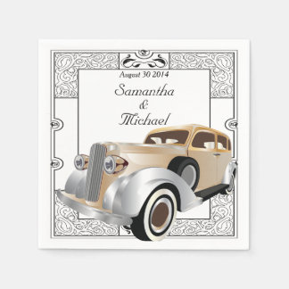 Vintage Classic Gatsby Style Paper Napkin