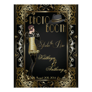 Vintage Classic Gatsby Style Photo Booth Poster