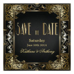 Vintage Classic Gatsby Style  Save the Date Personalized Announcement