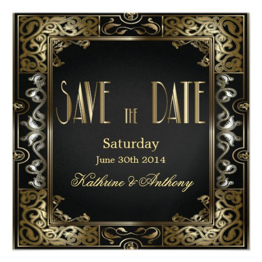 Gatsby Save the Date Wedding Magnets