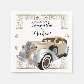 Vintage Classic Gatsby Style Paper Napkins