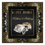 Vintage Classic Gatsby Style Wedding Invitation