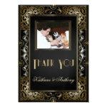 Vintage Classic Gatsby Style Wedding Thank You Custom Invitation