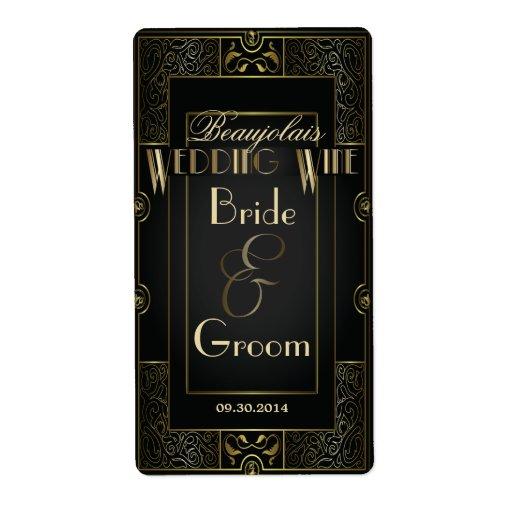 Vintage Classic Gatsby Style Wedding Wine Label Zazzle